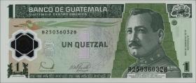 Guatemala P.109 1 Quetzal 2006 Polymer (1)