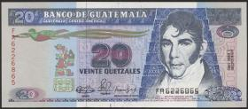 Guatemala P.076b 20 Quetzales 1990 (1/1-)