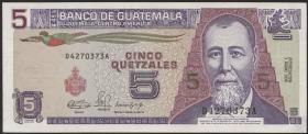 Guatemala P.074a 5 Quetzales 1990 (1)