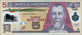 Guatemala P.122 5 Quetzales 2010 (1) Polymer