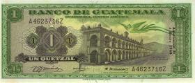 Guatemala P.052e 1 Quetzal 1968 (1)