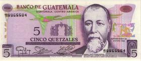 Guatemala P.060b 5 Quetzales 1983 (1)