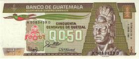 Guatemala P.065 1/2 Quetzal 1988 (1)
