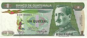 Guatemala P.066 1 Quetzal 1987 (1)