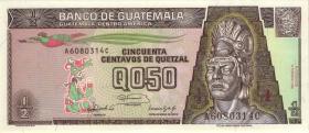 Guatemala P.072b 1/2 Quetzal 1992 (1)