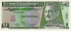 Guatemala P.073b 1 Quetzal 1991 (1)