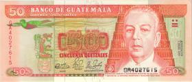 Guatemala P.077b 50 Quetzales 1990 (1)