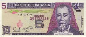 Guatemala P.106b 5 Quetzales 2006 (1)