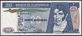 Guatemala P.069 20 Quetzales 1985 (1)