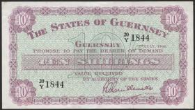 Guernsey P.42c 10 Shillings 1966 (1-)