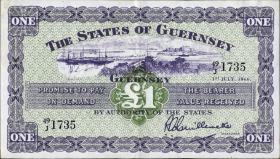Guernsey P.43c 1 Pound 1966 (3)