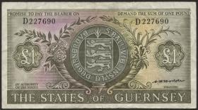 Guernsey P.45b 1 Pound (1969-75) (3)