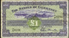 Guernsey P.43a 1 Pound 1.3.1957 (3-)