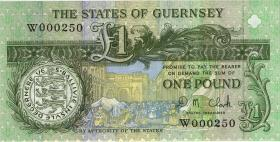 Guernsey P.52c 1 Pound (ab 1991) (1) low number