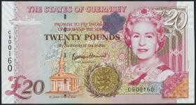 Guernsey P.58c 20 Pounds (2010) (1) low number