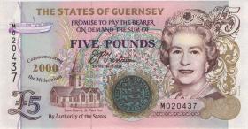 Guernsey P.60 5 Pounds Millenium 2000 (1)