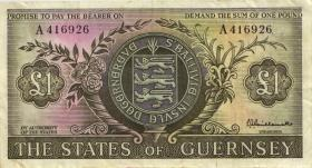 Guernsey P.45a 1 Pound (1969-75) (3)
