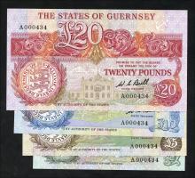 Guernsey P.48 - 51a 1 Pound - 20 Pounds (1980 - 89) (1)