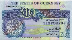 Guernsey P.50a 10 Pounds (1980-89) B 000039 (1)