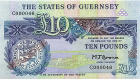 Guernsey P.50b 10 Pounds (1980-89) C000046 (1) low number