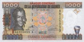 Guinea P.32 1000 Francs 1985 (1)