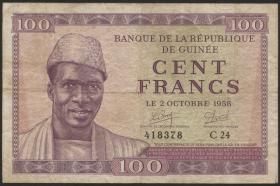 Guinea P.07 100 Francs 1958 (3)