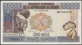 Guinea P.33 5000 Francs 1985 (1)