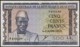 Guinea P.14 500 Francs 1960 (3+)