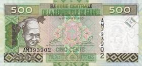 Guinea P.39 500 Francs 2006 (1)