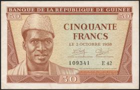 Guinea P.06 50 Francs 1958 (2+)