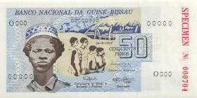 Guinea-Bissau P.01s 50 Pesos 1975 Specimen (1)