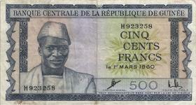 Guinea P.14 500 Francs 1960 (3-)