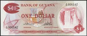 Guyana P.21a 1 Dollar (1966-92) (1)