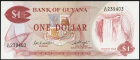 Guyana P.21e 1 Dollar (1966-92) (1)