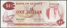 Guyana P.21f 1 Dollar (1966-92) (1)