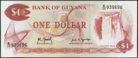Guyana P.21g1 1 Dollar (1966-92) (1)