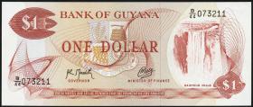 Guyana P.21g2 1 Dollar (1966-92) (1)
