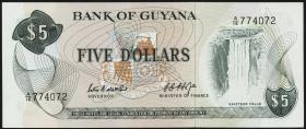 Guyana P.22c 5 Dollars (1966-92) (1)