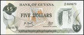 Guyana P.22f 5 Dollars (1966-92) (1)