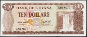 Guyana P.23c 10 Dollars (1966-92) (1)