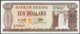Guyana P.23f 10 Dollars (1966-92) (1)