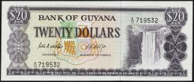 Guyana P.24b 20 Dollars (1966-89) (1)