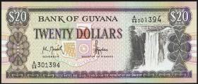 Guyana P.30a 20 Dollars (1996) (1)