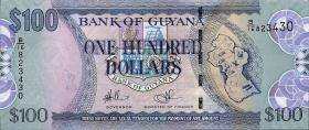 Guyana P.36b 100 Dollars (2009) (1)