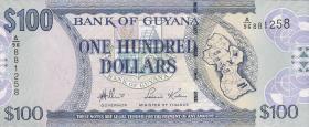 Guyana P.36a 100 Dollars (2006) (1)