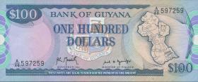 Guyana P.28 100 Dollars (1989) (1)