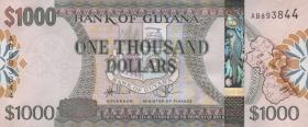Guyana P.38b 1000 Dollars (2012) (1)