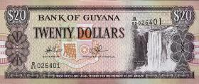 Guyana P.30e 20 Dollars (2009) (1)