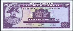 Haiti P.258 100 Gourdes 1991 (2+)