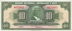 Haiti P.203 10 Gourdes L. 1919 (1)